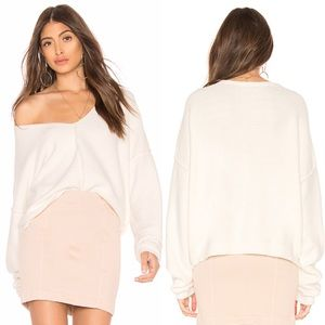 Free People Take Me Places Pullover in Ivory